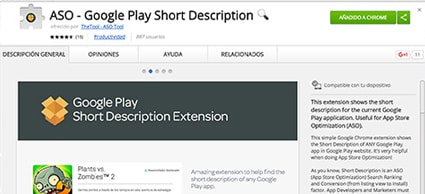 Google Play ASO extension
