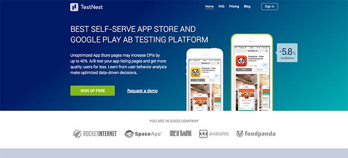 TestNest A/B testing tool