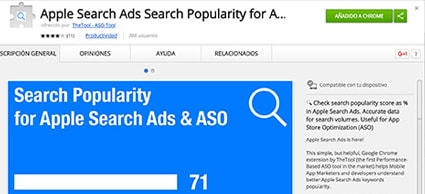 Apple Search Ads ASO extension