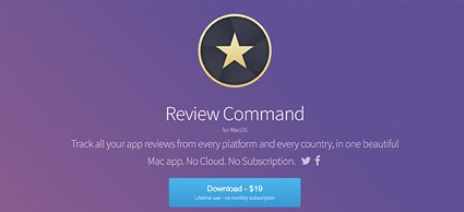 Review Command app reviews tool